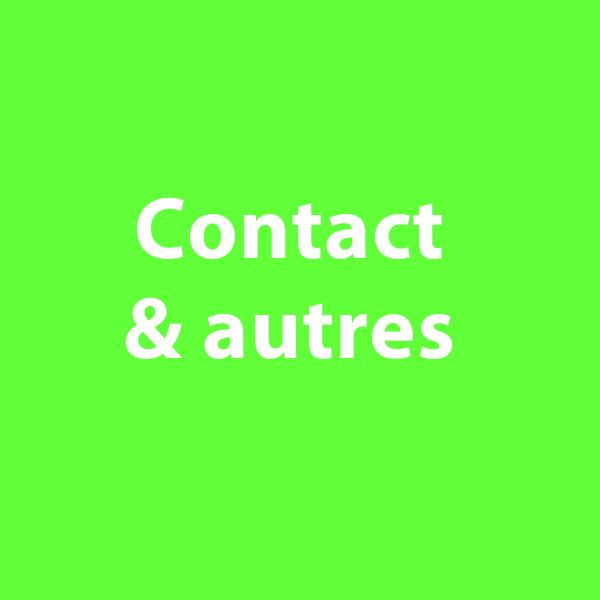 """bouton intitulé """"contact et autres"""" à cliquer sur le site de cécile briand"""