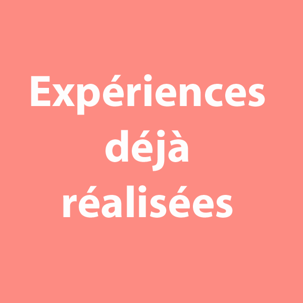 """bouton """"expériences déjà réalisées"""" à cliquer sur le site de cécile briand"""