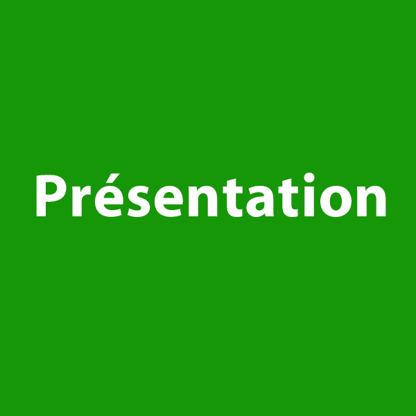 """bouton """"présentation"""" à cliquer sur le site de cécile briand"""