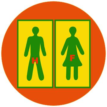 autocollants pour toilettes