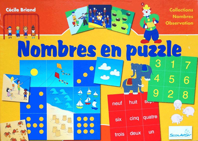 """boite de """"Nombres en puzzle"""" Sylema Andrieux Bourelier"""