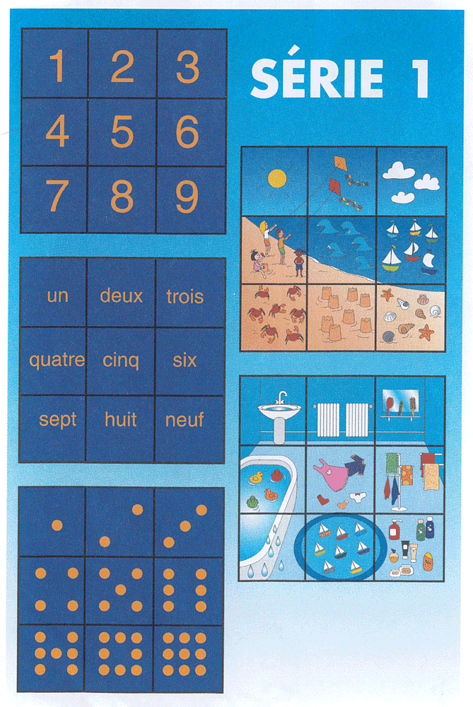 """description du contenu de """"Nombres en puzzle"""" série 1"""