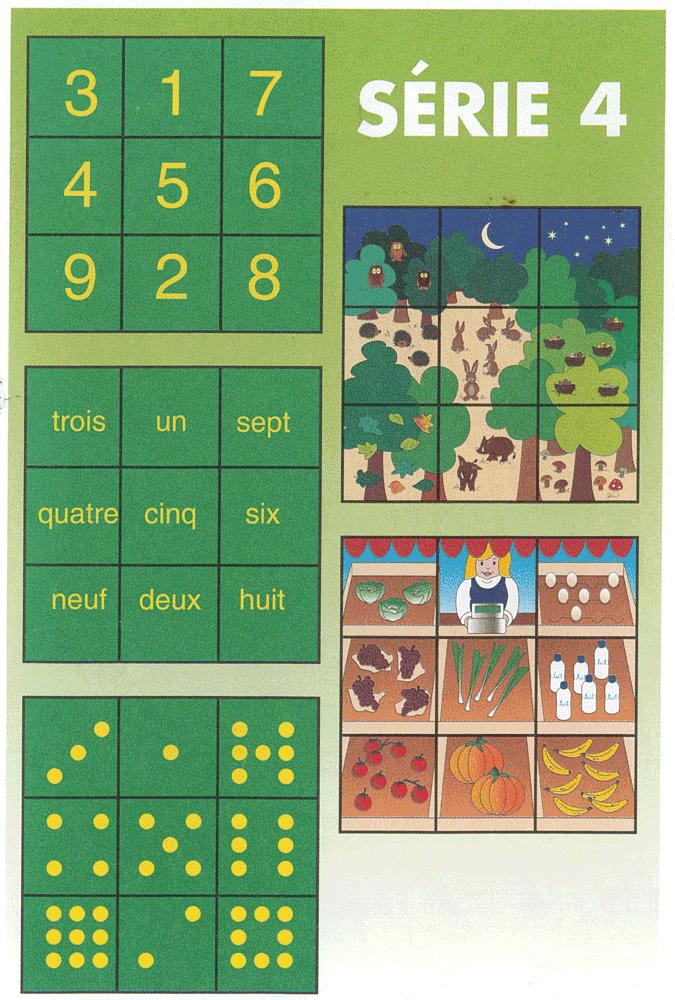 """description du contenu de """"Nombres en puzzle"""" série 4"""