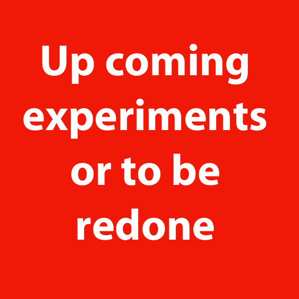 up coming experiments or to be redone, of cecile briand