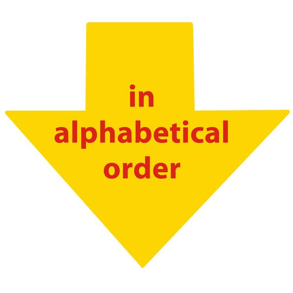 work index in alphabetic order
