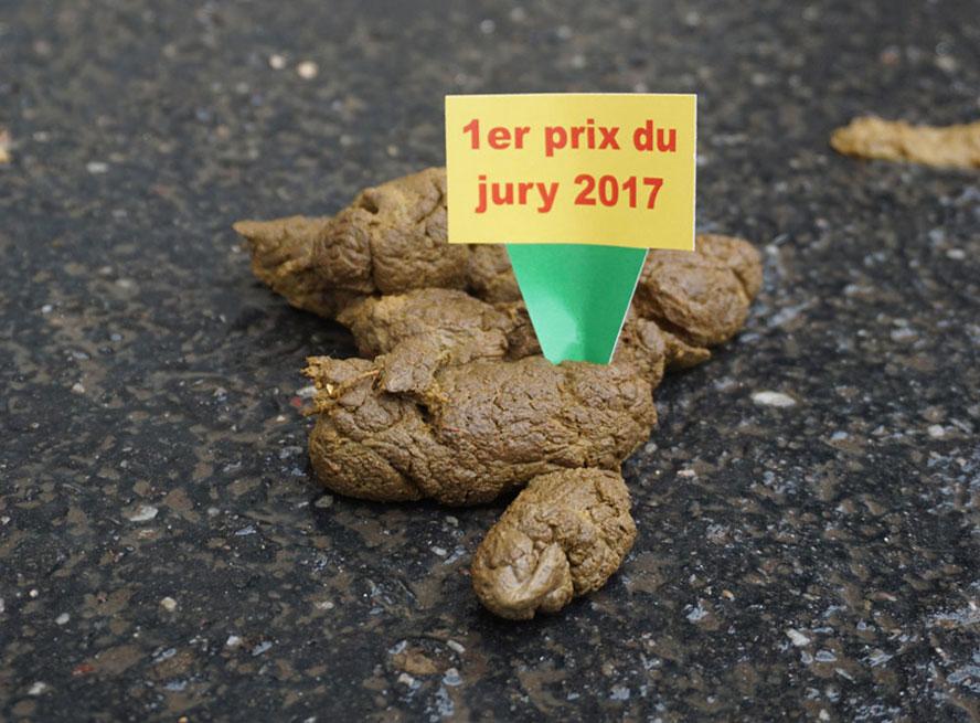 """étiquette crotte """"1er prix du jury 2017"""""""